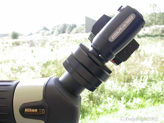 how to attach a camera to a spotting scope